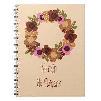 Ninguna lluvia ningunas flores libretas espirales