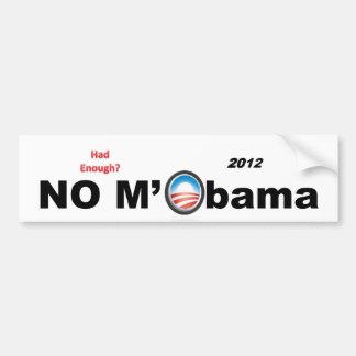 Ninguna pegatina para el parachoques 2012 de M'Oba Pegatina Para Coche