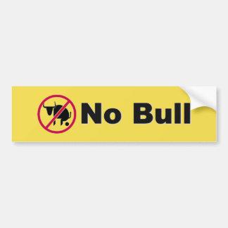 Ninguna pegatina para el parachoques de Bull Pegatina Para Coche