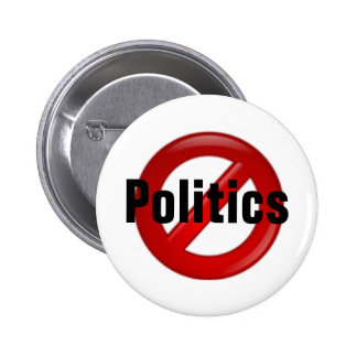 Ninguna política chapa redonda 5 cm