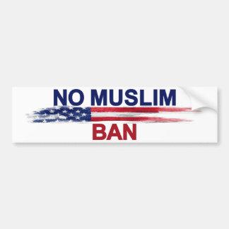Ninguna prohibición musulmán pegatina para coche