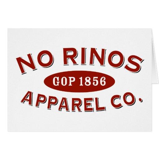 Ninguna ropa Co. de RINOs Felicitación