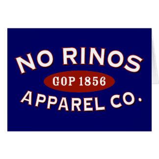 Ninguna ropa Co. de RINOs Tarjeta De Felicitación