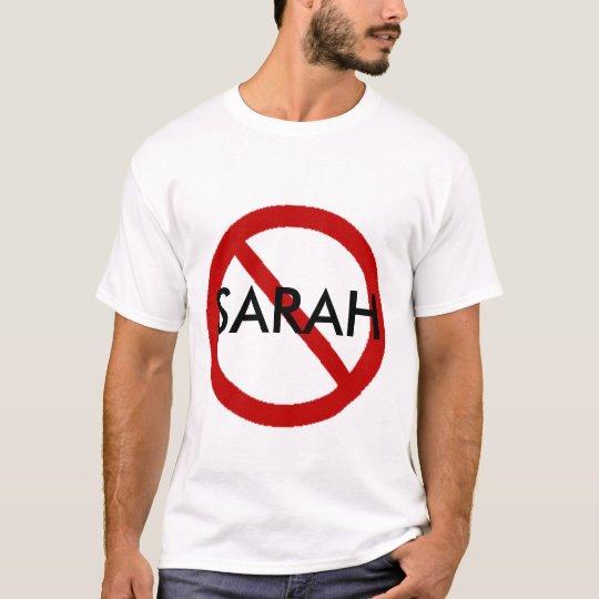 Ninguna Sarah Camiseta