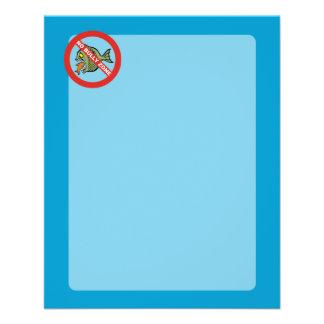 Ninguna zona del matón folleto 11,4 x 14,2 cm