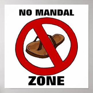 Ninguna zona mandal posters