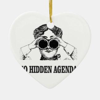 ningunas agendas ocultas adorno de cerámica