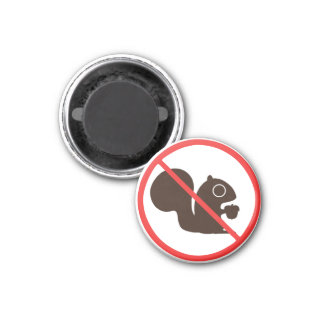 Ningunas ardillas imán redondo 3 cm