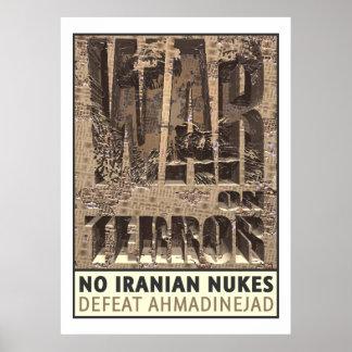Ningunas armas nucleares del iraní póster