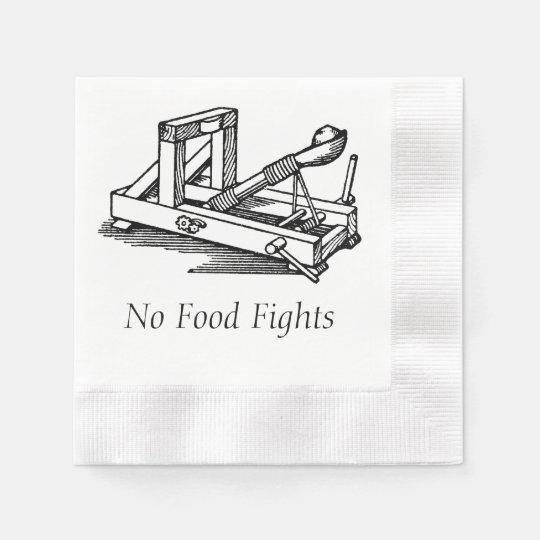 Ningunas luchas de la comida servilletas desechables