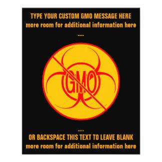 Ningunos aviadores personalizados Biohazard de GMO Tarjeton