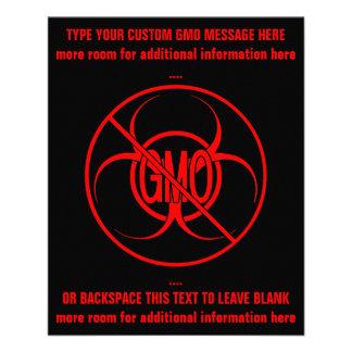 Ningunos aviadores personalizados Biohazard de GMO Flyer A Todo Color
