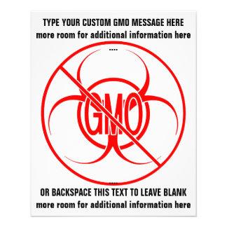 Ningunos aviadores personalizados Biohazard de GMO Folleto 11,4 X 14,2 Cm