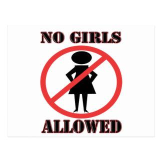 Ningunos chicas permitidos postal
