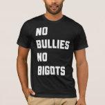 Ningunos matones ningunos fanáticos camiseta