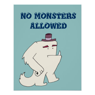Ningunos monstruos permitidos póster