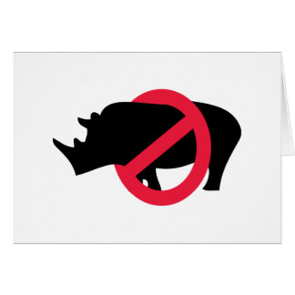 Ningunos Rhinos - tipo de Rino Tarjeta