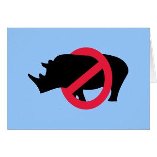 Ningunos Rhinos - tipo de Rino Tarjeta De Felicitación