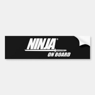 Ninja a bordo pegatina para coche