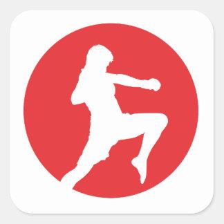 Ninja Fighter - Martial Arts Calcomanías Cuadradass