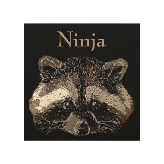 Ninja Impresión En Madera