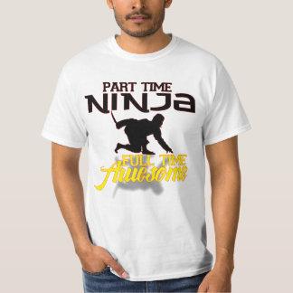 ninja por horas, a tiempo completo logotipo camiseta