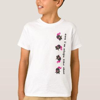 Ninja que cae rosado camiseta