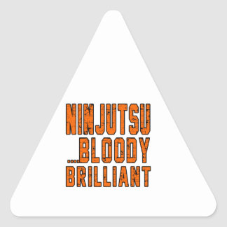 Ninjutsu Bloody brillante Pegatina Triangular