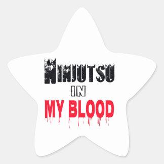 Ninjutsu en mi sangre colcomanias forma de estrella personalizadas