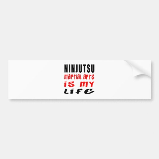 Ninjutsu es mi vida etiqueta de parachoque