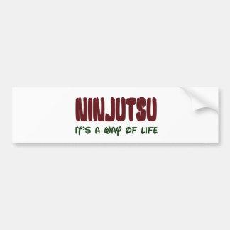 Ninjutsu es una manera de vida pegatina de parachoque