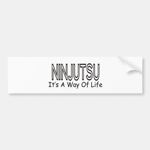 Ninjutsu es una manera de vida etiqueta de parachoque