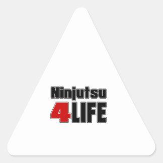 Ninjutsu para la vida pegatina triangular