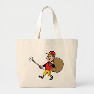 Niño alegre del boy scout limpio de la litera buen bolsa tela grande