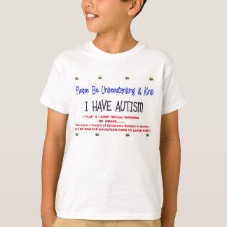 Niño amonestador con autismo camiseta