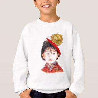 Niño asiático del este sudadera