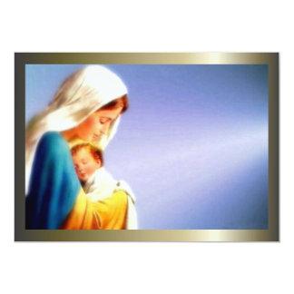 Niño bendecido Jesús del Virgen María y del niño Invitación 12,7 X 17,8 Cm
