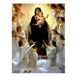 Niño bendecido Jesús del Virgen María y del niño Postal