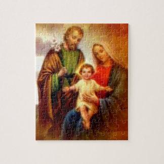 Niño bendecido Jesús del Virgen María y del niño Puzzle