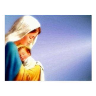 Niño bendecido Jesús del Virgen María y del niño Tarjetas Postales