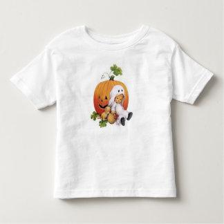 niño, blanco, mangas cortas, camisa de encargo