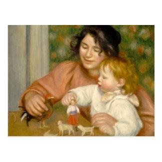Niño con los juguetes, Gabrielle y el hijo del art Tarjetas Postales