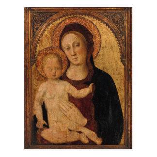 Niño de Cristo en arco con la madre Postal