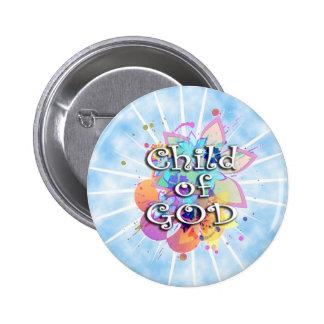 Niño de dios, en colores pastel chapa redonda de 5 cm