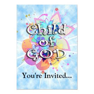 Niño de dios, en colores pastel invitación 12,7 x 17,8 cm