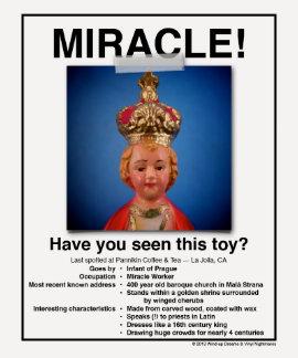 ¡Niño de la camisa del poster del milagro de Praga