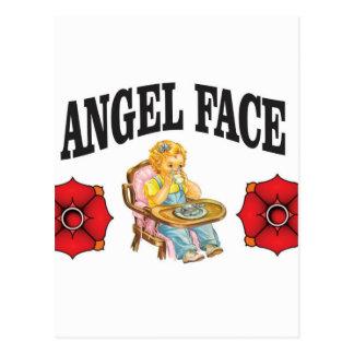 niño de la cara del ángel postal