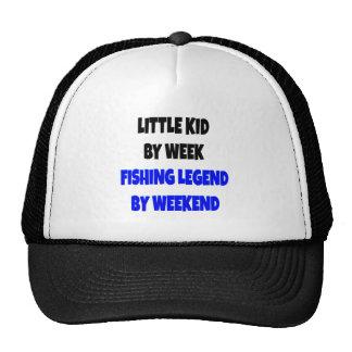 Niño de la leyenda de la pesca gorro