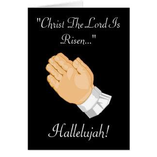 Niño de rogación Cristo de las manos el señor Is Tarjeta De Felicitación