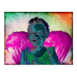 Niño del ángel postal